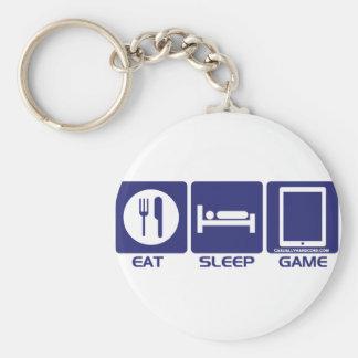 Eat Sleep Game Basic Round Button Keychain