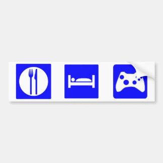 Eat, Sleep Game Bumper sticker