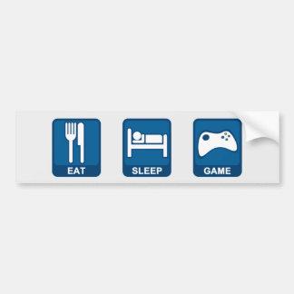 Eat, Sleep, Game Bumpersticker Bumper Sticker