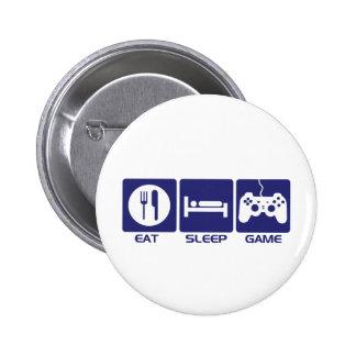 Eat Sleep Game Button