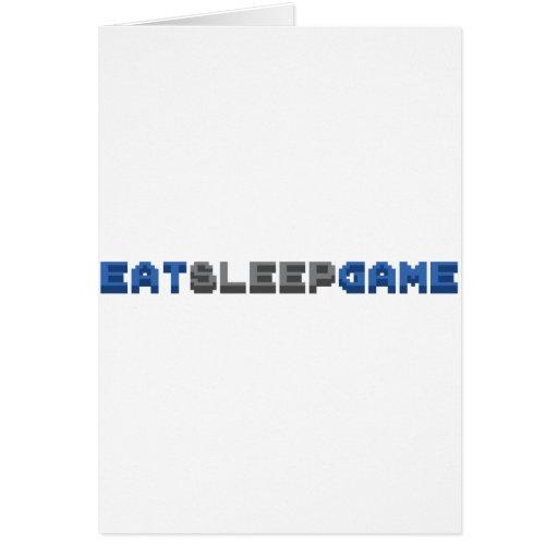 EAT SLEEP GAME - Gamer Gaming Video Games Greeting Card