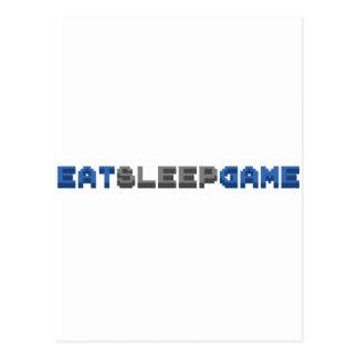 EAT SLEEP GAME - Gamer Gaming Video Games Postcard