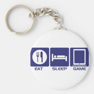 Eat Sleep Game Keychain