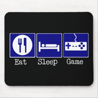 Eat Sleep Game Mouse Pads