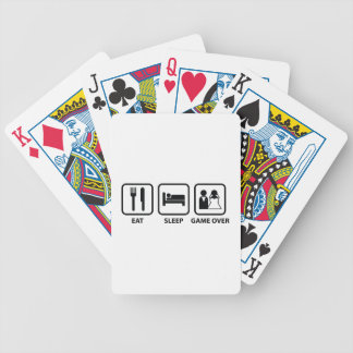 Eat Sleep Game Over Bicycle Playing Cards