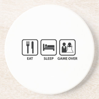 Eat Sleep Game Over Drink Coaster