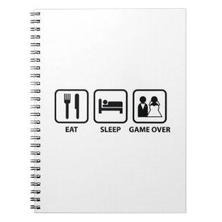 Eat Sleep Game Over Notebook