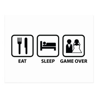 Eat Sleep Game Over Postcard