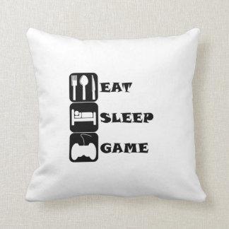 Eat Sleep Game Pillows
