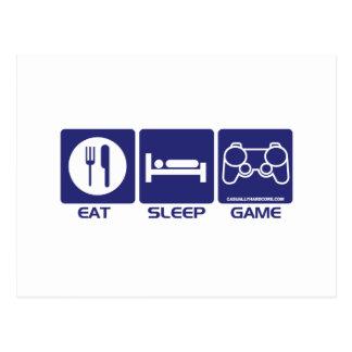 Eat Sleep Game Postcard