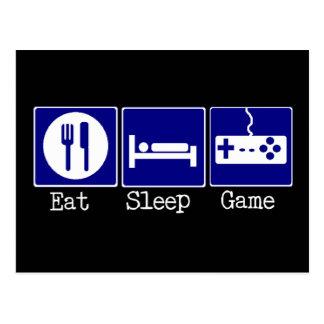 Eat, Sleep, Game Postcard
