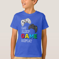 Eat Sleep Game Repeat | Gamer T-Shirt