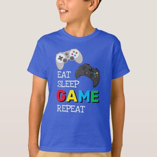 Eat Sleep Game Repeat  Gamer T_Shirt