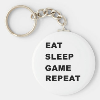 Eat, Sleep, Game, Repeat. Keychain