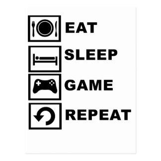 Eat, Sleep, Game, Repeat. Postcard