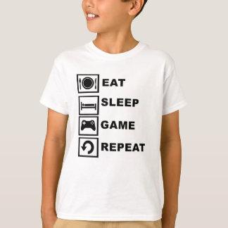 Eat, Sleep, Game, Repeat. T-Shirt