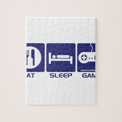 Eat Sleep Game Retro Puzzle