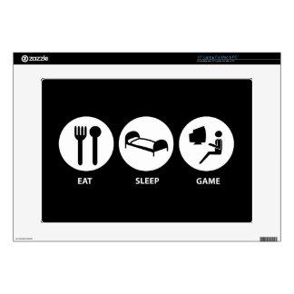 Eat Sleep Game Laptop Decals