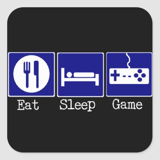 Eat, Sleep, Game Square Sticker
