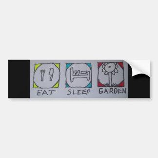 eat,sleep,gardening bumper sticker