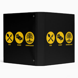 Eat Sleep Genealogy 3 Ring Binder