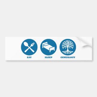 Eat Sleep Genealogy Bumper Sticker