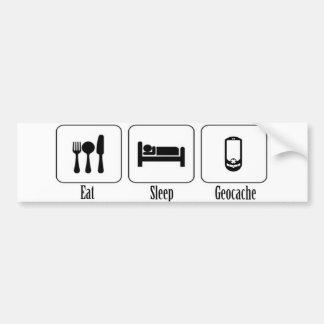Eat, Sleep, Geocache Bumper Sticker