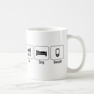 Eat, Sleep, Geocache Classic White Coffee Mug