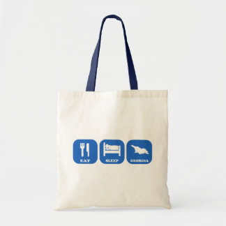 Eat Sleep Georgia Canvas Bags