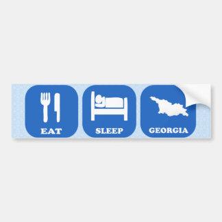 Eat Sleep Georgia Bumper Sticker