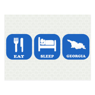 Eat Sleep Georgia Postcard