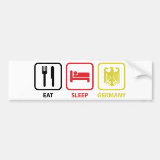 Eat Sleep Germany Bumper Sticker