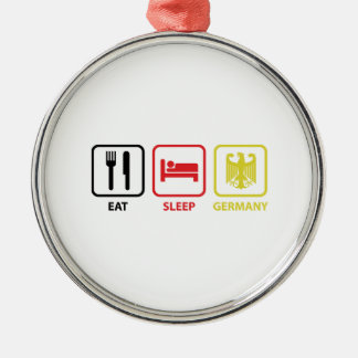 Eat Sleep Germany Metal Ornament
