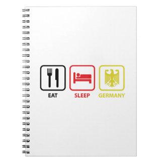 Eat Sleep Germany Notebook