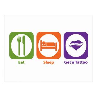 Eat Sleep Get a Tattoo Postcard