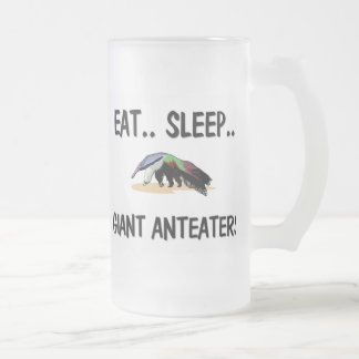 Eat Sleep GIANT ANTEATERS Frosted Glass Beer Mug