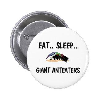 Eat Sleep GIANT ANTEATERS Pinback Button