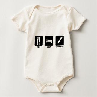 Eat - Sleep - Give Insulin Baby Bodysuit