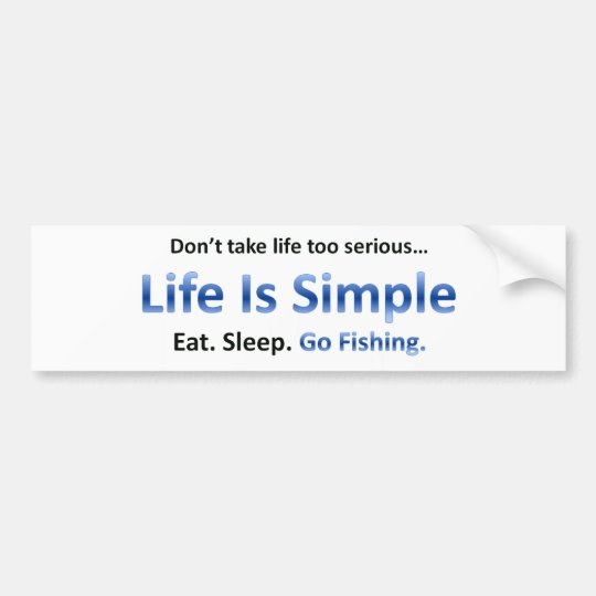 Eat, Sleep, Go Fishing Bumper Sticker