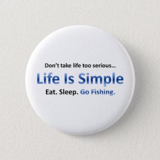 Eat, Sleep, Go Fishing Button