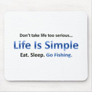 Eat, Sleep, Go Fishing Mousepads