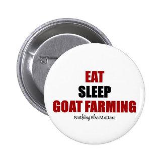Eat sleep Goat farming Button