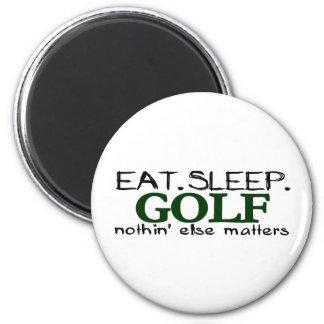 Eat Sleep Golf 2 Inch Round Magnet