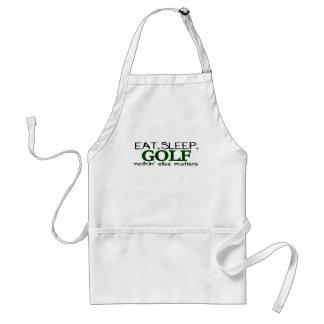 Eat Sleep Golf Adult Apron