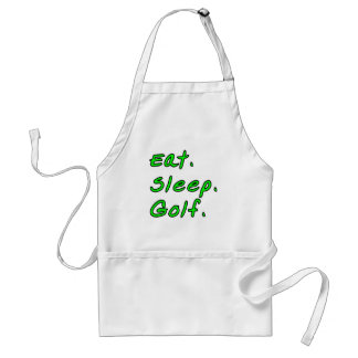 Eat. Sleep. Golf. Adult Apron