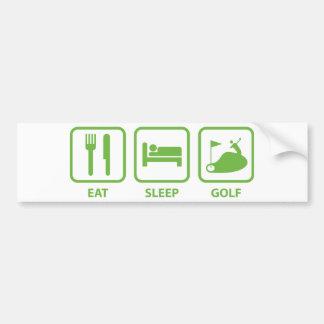 Eat Sleep Golf Bumper Sticker