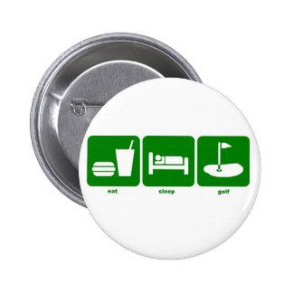 eat sleep golf button