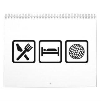 Eat Sleep Golf Calendar