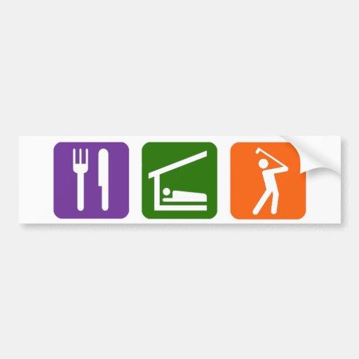 Eat Sleep Golf! Car Bumper Sticker