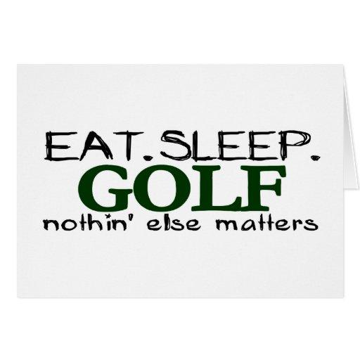 Eat Sleep Golf Card